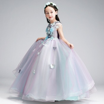 Lovely  Appliques Lace Floor Length Flower Girl Dresses for Weddings Holy First Communion Custom Made