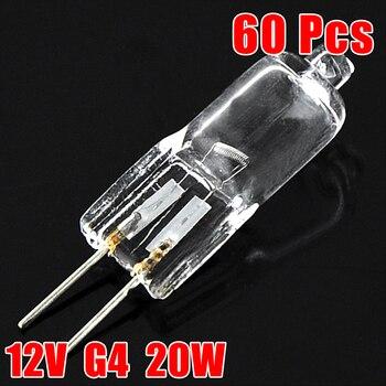 60 uds. Bombillas JC tipo lámpara halógena G4 20W 12V ampolla de...