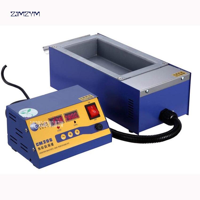 цена на Split lead - free solder furnace CM - 206 digital high - temperature melting tin furnace dip tin Desoldering Pumps 110V / 220V
