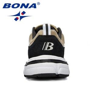 Image 2 - BONA/Новинка; Дизайнерская спортивная обувь; Мужские кроссовки; Мужская обувь для бега; Уличная спортивная обувь; Мужская теннисная обувь; Мужская обувь для бега