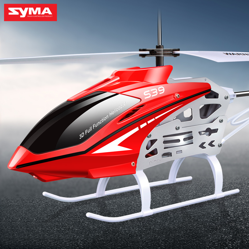 SYMA S39 2.4GHz 3CH RC Helicopter with Gyro Led Flashing Aluminum Anti-Shock Remote Control Toy Kids Gift Red/White игрушка syma s39g red