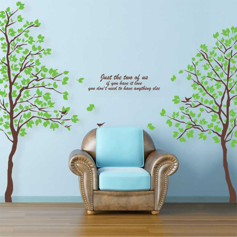 Green Tree Design Two Stick Method Wall Stickers Waterproof Wall Decoration  Arts Wallpaper Home Decoration In Wall Stickers From Home U0026 Garden On ...