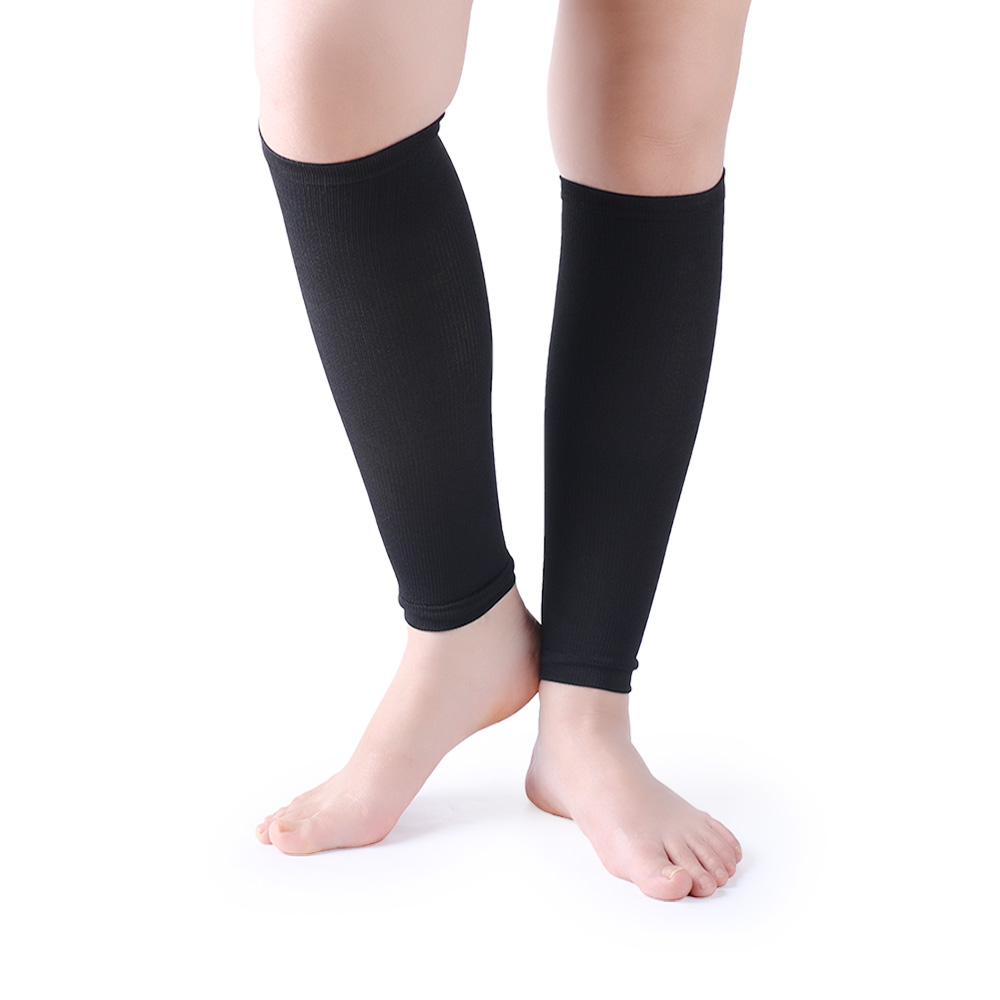 Fancyteck 2 Pairs Unisex Leg Calf Sleeves Men Socks Women Varicose Vein Circulation Compression Socks Medical Elastic Stockings