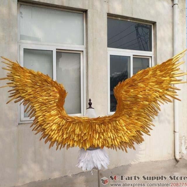 Новинка! Красивые золотые крылья ангела для свадебной фотосъемки, свадебные украшения, Бесплатная доставка EMS