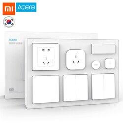 Xiaomi Mijia Aqara inteligentny zestaw wtyczek kryty główna sypialnia czujnik temperatury i wilgotności ścienne inteligentny przełącznik gniazdo inteligentny bezprzewodowy przełącznik zestaw 1