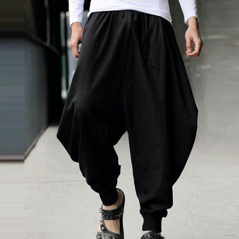 de04dc905d8d 2018 Summer Men Casual Harem Loose Pants Low Drop Crotch Wide-Leg Long  Trousers Male