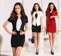 Plus Size 4XL Formal Blazers Feminino Uniform Style Business Suits Jackets And Skirt Spring Summer Blazers Outfit For Ladies