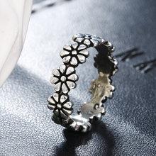 Кольцо женское из тайского серебра 100% пробы с маленьким цветком