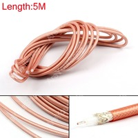 Sale 500cm RG142 RF Coaxial Cable Connector 50ohm M17 60 RG 142 Coax Pigtail 16ft High
