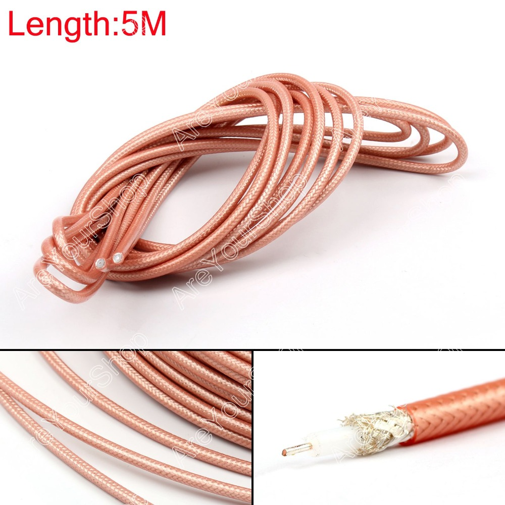 Areyourshop Koop 500cm RG142 Rf-coaxkabel Connector 50ohm M17/60 RG-142 Coax Pigtail 16ft Plug