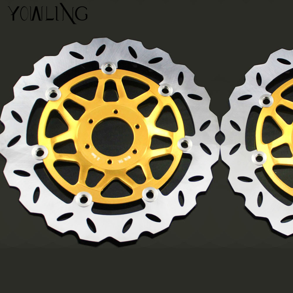 2 pieces high quality motorcycle parts Accessories Front Brake Discs Rotor For HONDA CB400 1994 1995 1996 1997 1998 starpad for lifan motorcycle lf150 10s kpr150 new front brake discs accessories