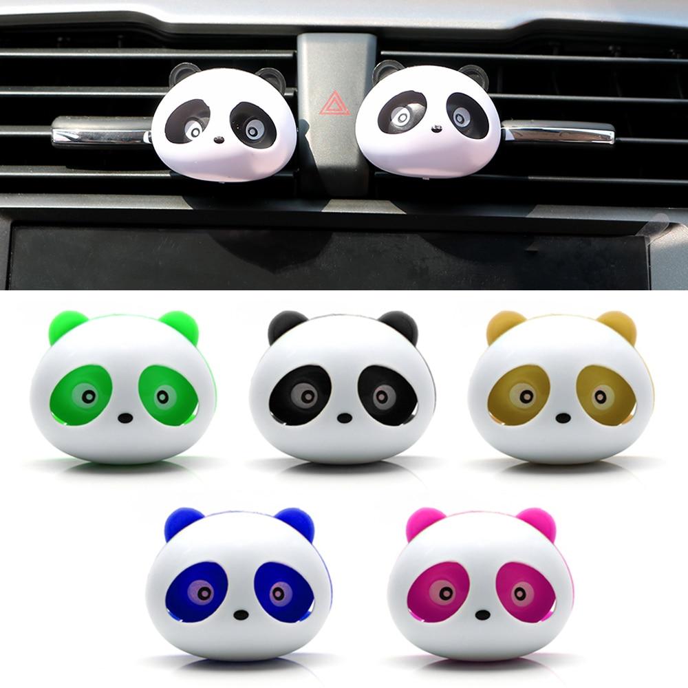 2 pçs saída de carro perfume ar condicionado ventilação ambientador estilo do carro bonito panda olhos vai saltar perfumes acessórios automóveis