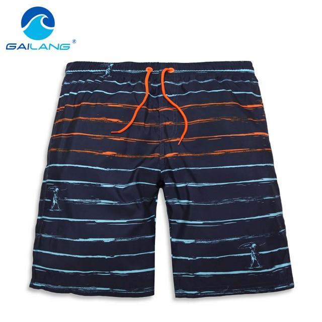 93d0bdca70168 Gailang العلامة التجارية الرجال شورتات للبحر عارضة جديد وصول رجل متن بحر  المايوه ملابس السباحة الصيف