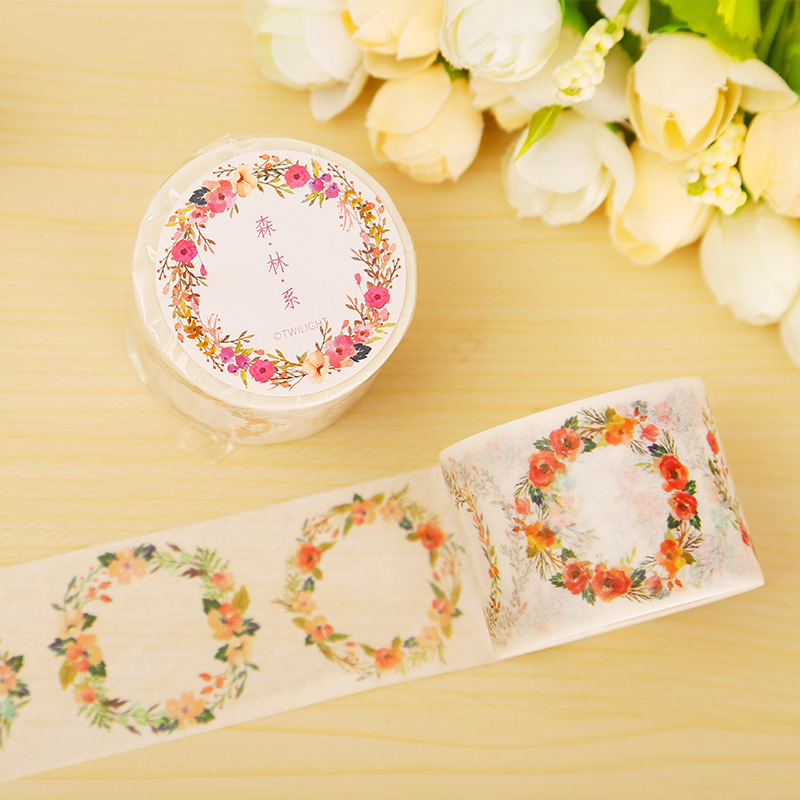Forest flowers washi tape diy decoration for Decoration tape