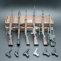 6 шт. набор пистолетов 1:6 солдатская винтовка в сборе Модель 38 винтовка 98 K модельные блоки костюм случайный DIY пистолет мини-оборудование