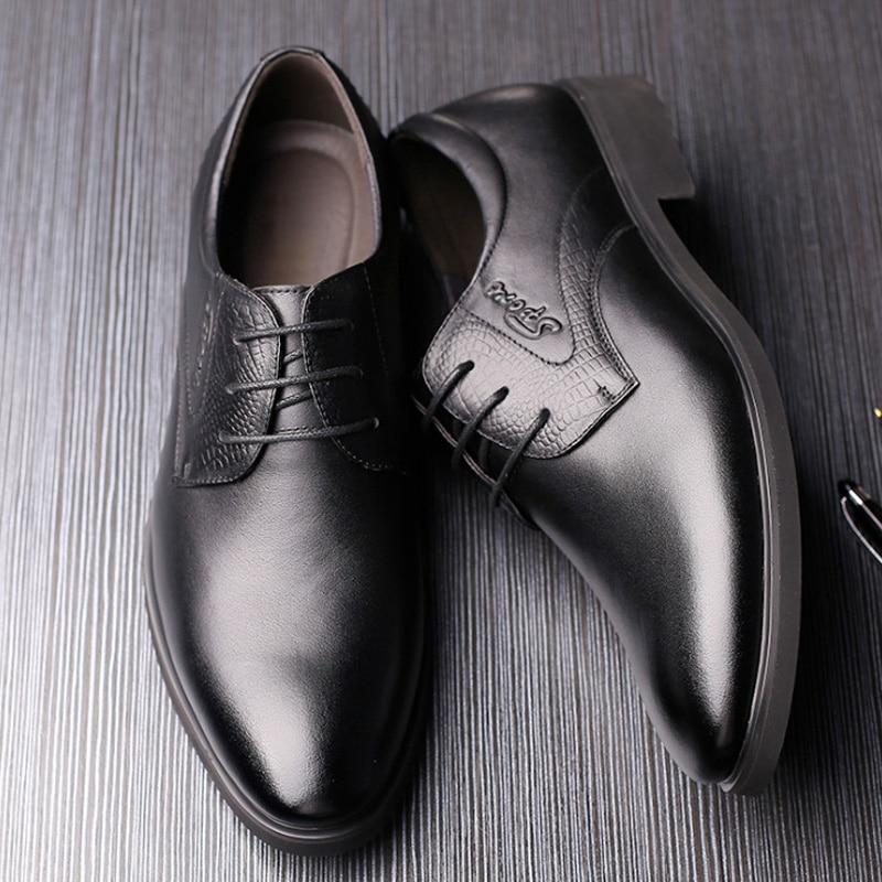 Noir En Buvazik D'affaires marron Hommes Formelle Classique Robe Chaussures Bout Mariage Mode Italien Cuir De Oxford Pointu rYZfw1qY