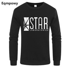 STAR Labs Sweatshirt Superman Series Hoodie Men Jumper The Flash Gotham City Comic Books Black Sweatshirt Fleece Streetwear XXL printio star labs