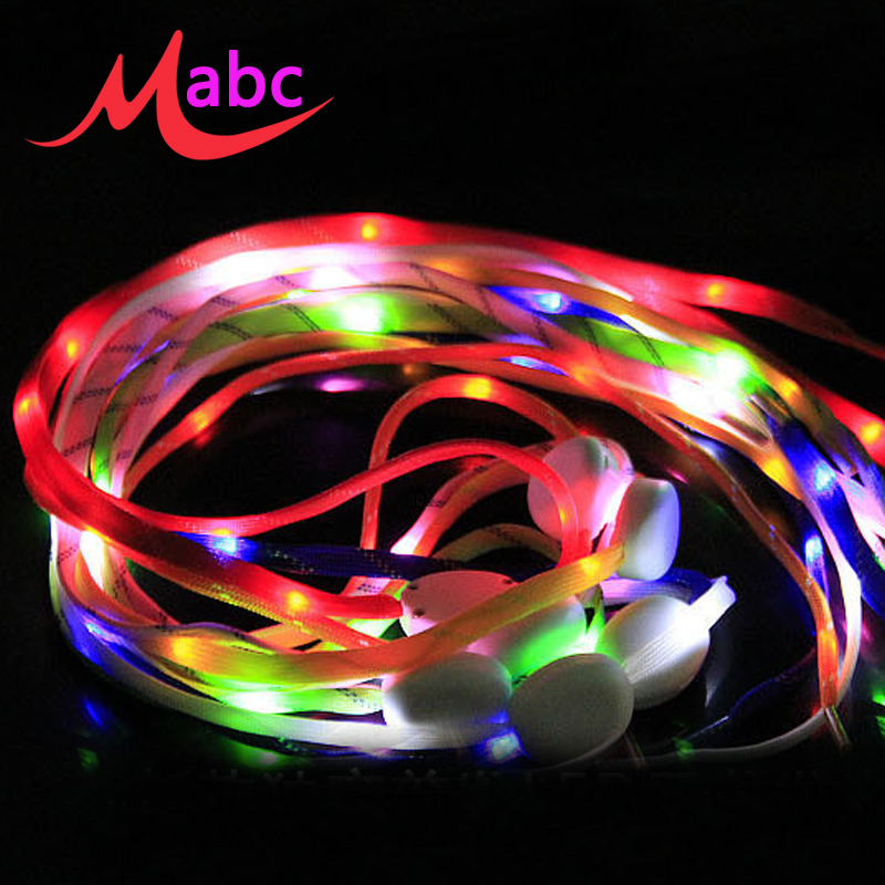brand led shoelace luminous lacets led shoe laces orange blue led shoelaces flat glow shoelaces. Black Bedroom Furniture Sets. Home Design Ideas