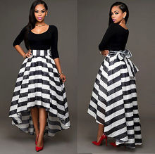 Sexy Women Long Maxi Formal Party Cocktail Striped Dress Prom Gown Dress Women Dress Vestidos