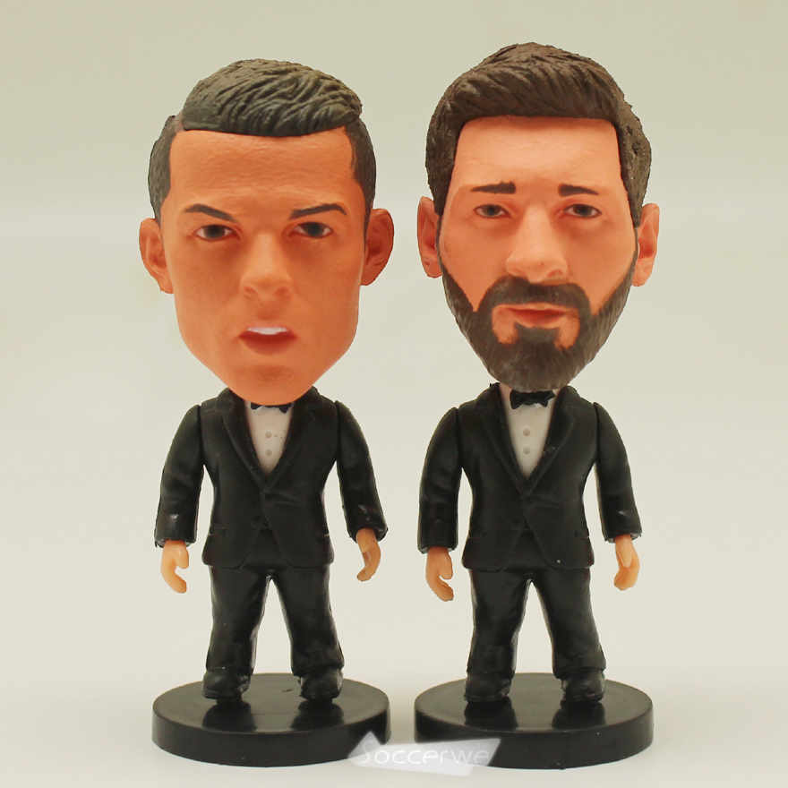 Football star 2PCS/LOT MESSI & C.RONALDO (Full Dress) 2.5 Action Dolls Figurine FreeShipping Best gift