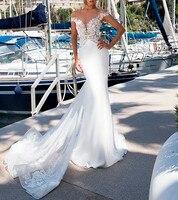 Sofuge Bridal 2019 кружевное свадебное платье русалки с цветочным узором, с открытыми плечами, с рюшами, со шлейфом, сзади, на пуговицах, на молнии, св