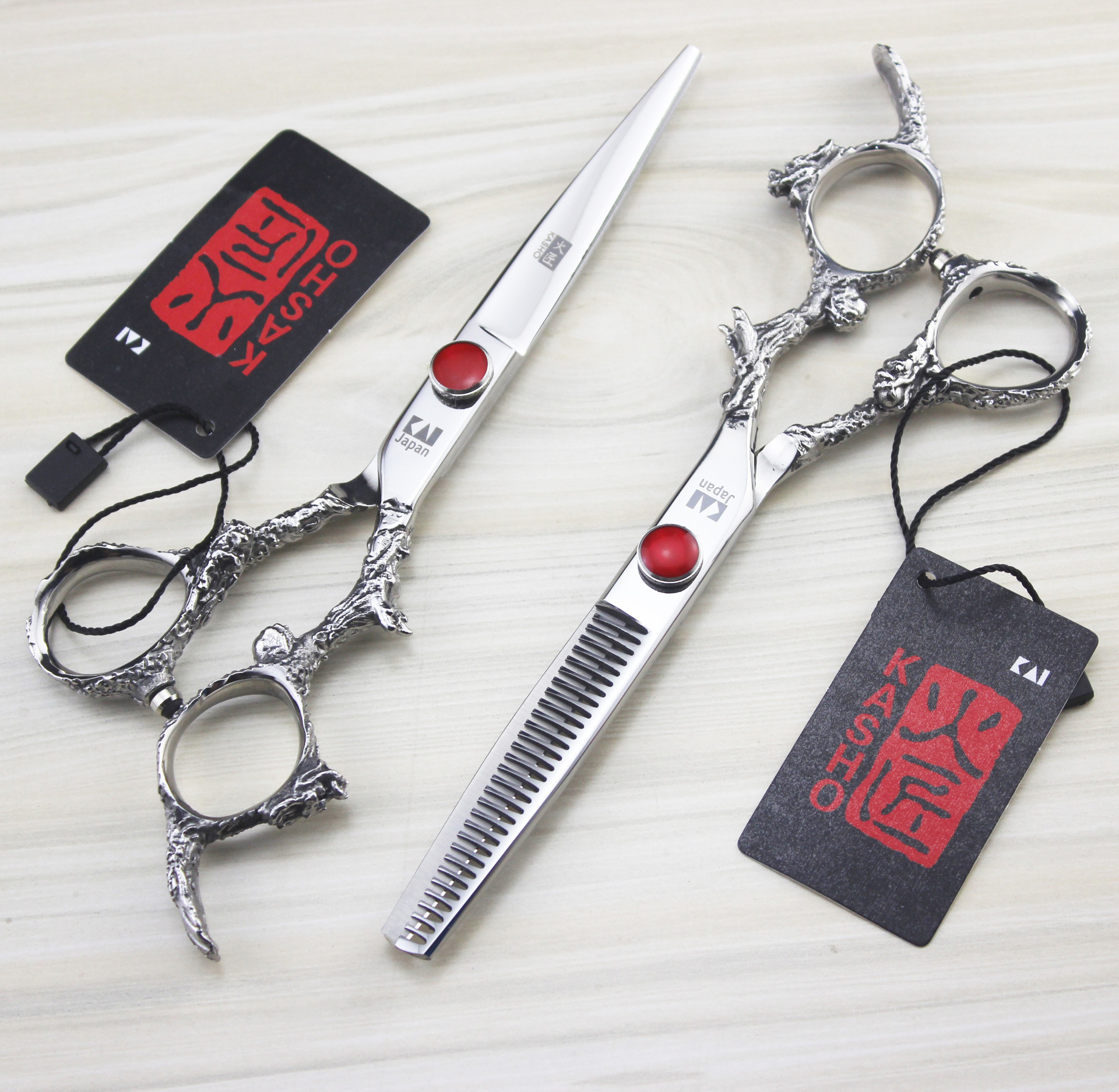 Professional Hair Scissors set 6 inch Straight Thinning scissors barber selective professional curly hair set