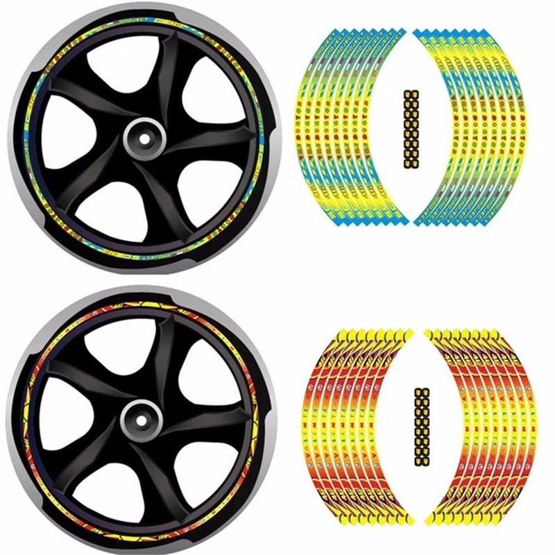 16 17 18 Motorcycle Wheel Hub Rim Stripe Tape Bike Decor Decal Rossi 46 VR46 The Doctor Sticker For YAMAHA HONDA KAWASAKI