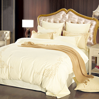 2016 Cotton Jacquard Bedding Set New Design Luxury Duvet Cove Hot Sale Brand Satin Bedding Set