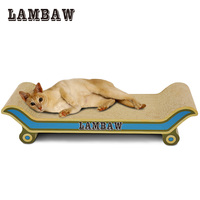Lambaw Cat Scratcher 60cm Length Cat Bed Sofa Lounge Cardboard Paper High Quality Cat Toy Scratching