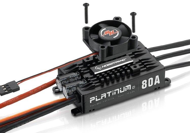 Hobbywing Platinum Pro V4 80A 3-6 s Lipo BEC Moule Vide Brushless ESC pour RC Drone Hélicoptère