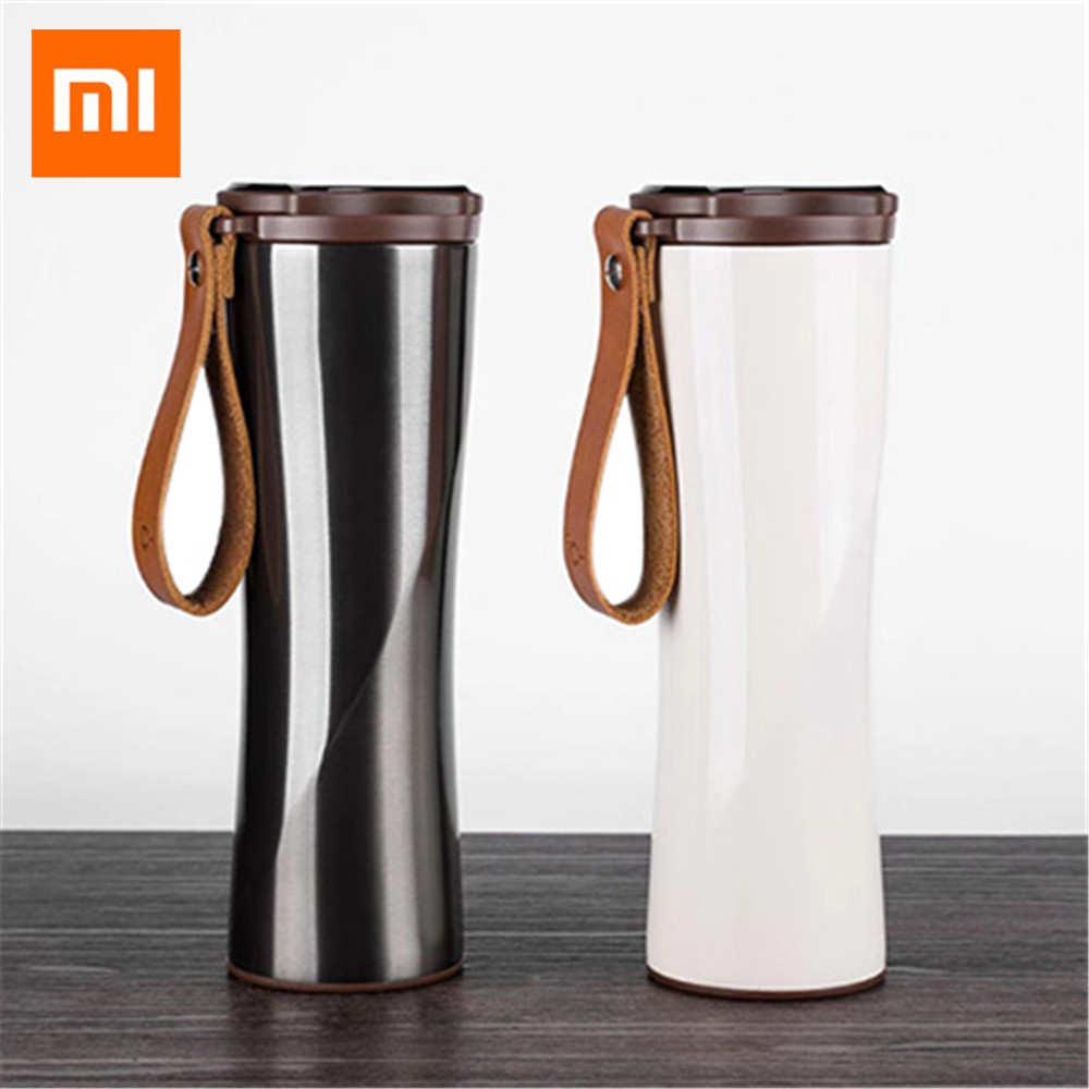 Original Xiaomi Simple Stainless Steel Intelligent Thermal Vacuum Water Bottle Vacuum Flask for Sport Travel Climbing