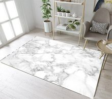 LB Non Slip Marble Texture Nordic Kitchen White Area Rug For Living Home Room In Carpet Bedroom Floor Cushion Bathroom Mat