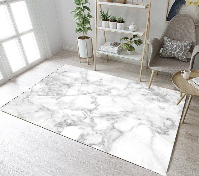 lb tapis de zone blanc de cuisine nordique de texture de marbre