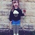 Детские облака пуловер вязаный свитер ребенок хлопчатобумажную рубашку 2016 Весной новый мужской женский детская одежда верхняя одежда для мальчика девушки