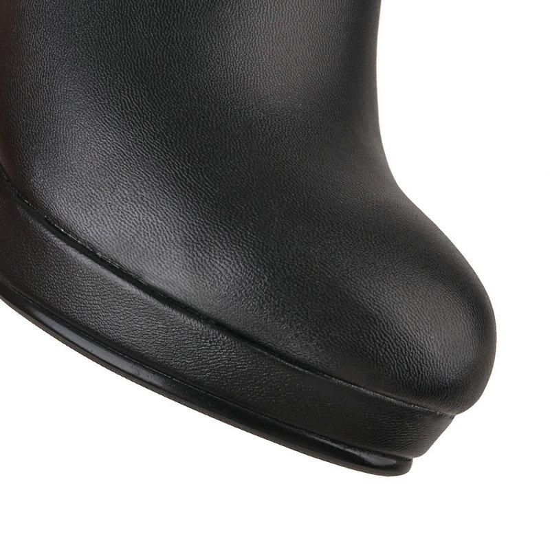 43 Redonda Casual Mujeres Tamaño Cm Talón 9 Moda Erogenous Zapatos 2019 Alto 34 Grande Cómodas 5 negro Beige Botas Punta Partido 64SwPU