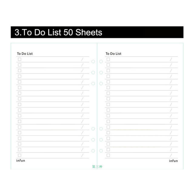 online shop notebook papers a5 a6 pages planner filler paper inside