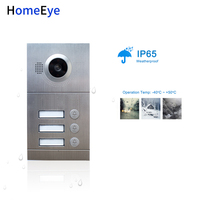 HomeEye 3 Button Door Access Control Panel 720P POE Supported