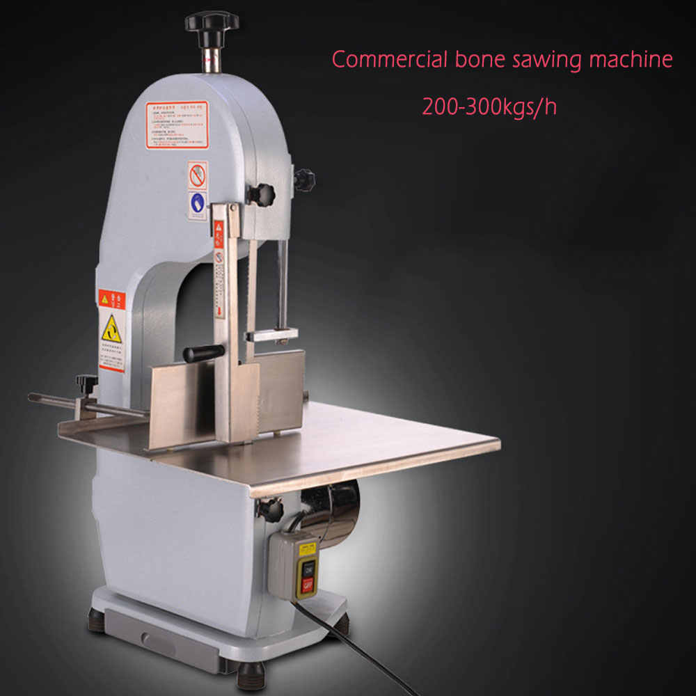 NEW Bone Sawing Machine Commercial Bone Cutting Machine 110V/220V Frozen Meat Cutter Machine for Cut Ribs/Fish/Meat/Beef