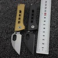 HOT! Mini Pea Schlüsselbund Taschenmesser gold gewaschen 8cr13mov Klinge CNC Prozess Taktische Utility Military Sammlung Top EDC werkzeug