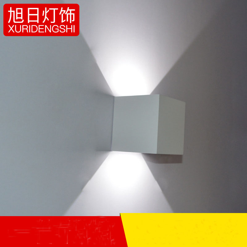 Waterproof Cube COB LED Light Wall Lamp Modern Home Lighting Decoration outdoor wall Lamp Aluminum 7W AC 220V Lemonbest led recessed wall light outdoor waterproof ip54 modern wall lamp for stairs art home decoration sconce lighting fixture 1097