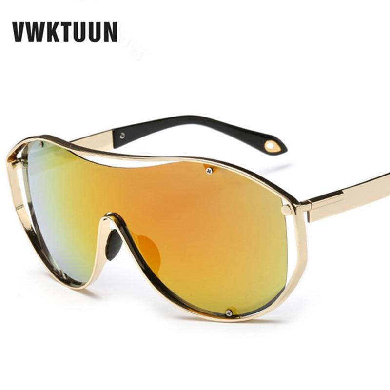 VWKTUUN Vintage Integrované sluneční brýle Ženy Muži Sluneční brýle Sluneční brýle pro dámy Feamle Sluneční brýle Zrcadlové brýle Oculos