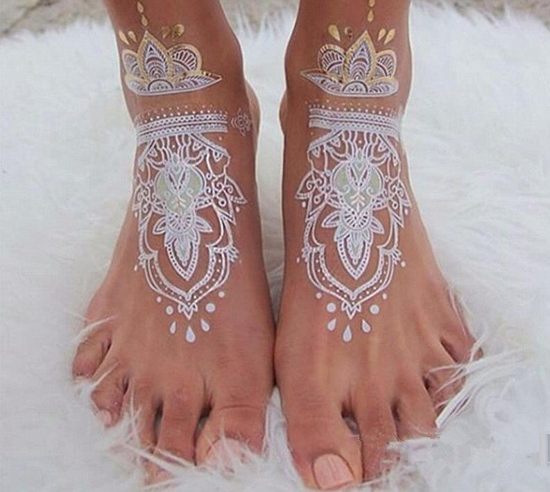 1pc White Henna Mehndi Tattoo Paste Indian Waterproof Henna Tattoo