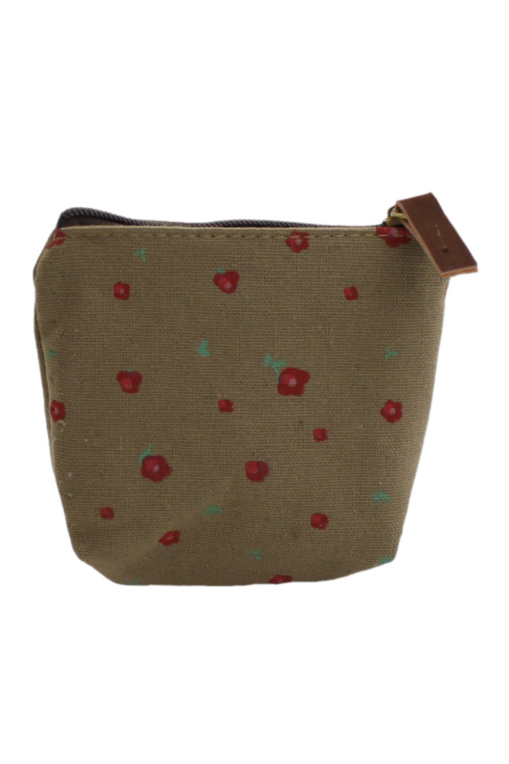 Lady Small Canvas Purse Wallet Coin(brown)