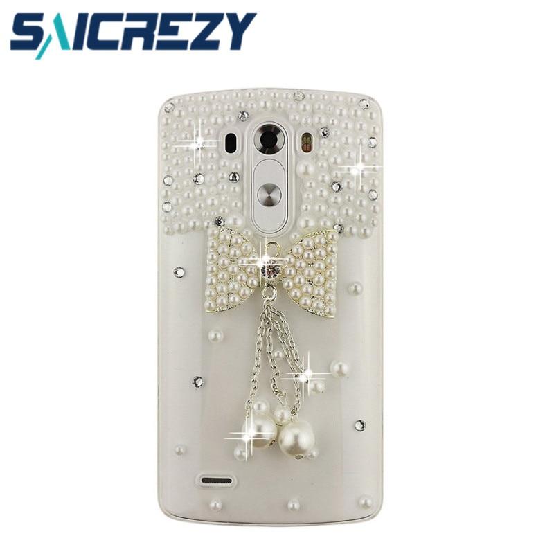 Модные 3D со стразами бантом сотовый телефон чехол для <font><b>LG</b></font> G6 G5 <font><b>G4</b></font> G3S F6 D500/<font><b>G4</b></font> beat g4s/Bello 2/Nexus 5X/x power случае