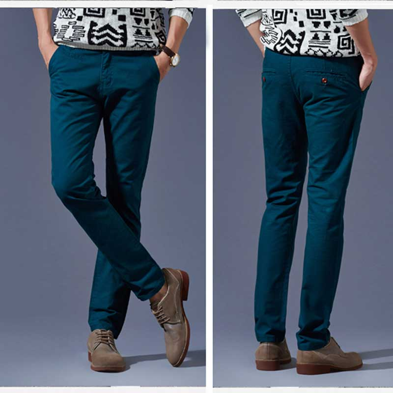 TROUSERS - Casual trousers Peacock Blue