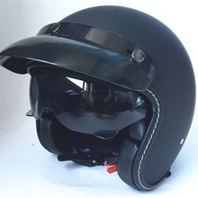 цена на HOT SELL 3/4 Open Face Harley Retro Half Face Motorcycle Helmet Inner Sun Visor