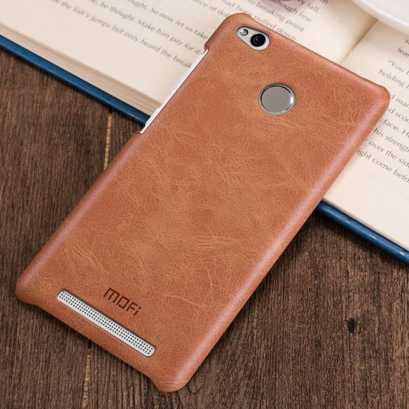 hot sales d764a 302a9 US $9.99  Xiaomi redmi 3s case MOFi original xiaomi redmi 3 pro case PU  leather hard back cover redmi 3 pro prime coque capa funda 5 inch-in ...