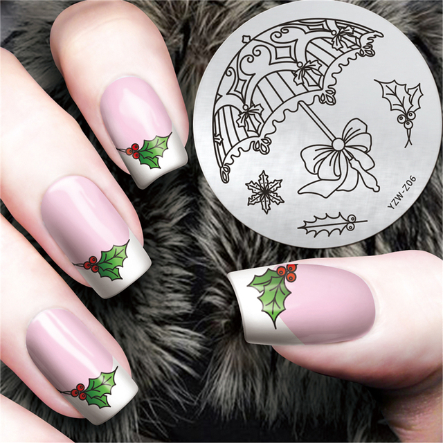 1PC Pretty Good Nail Art Print Stamping Plates Umbrella Design Nails ...