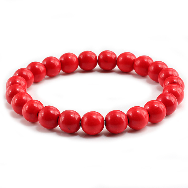 pour toute la famille code promo info pour US $0.99 35% OFF|New Red Natural Turquoises Stone Charm 8mm Men Strand  Bracelet Femme Round Beads Buddha Bracelets For Women Pulseira Jewelry-in  ...