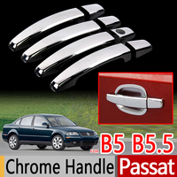 For Volkswagen VW Passat B5 Chrome Door Handles Covers Luxurious Car Accessories Stickers Car Styling